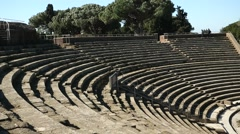 Theater in Ostia Antica, Italy Stock Footage