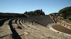 Theatre in Ostia Antica, Italy Stock Footage