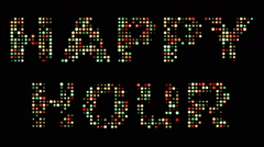 Happy hour led sign Stock Footage