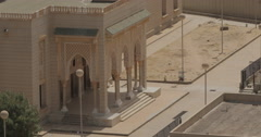 Entrance to Saudi Mosque in Nouakchott, Mauritania (4K) Stock Footage