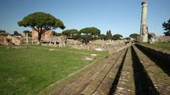 Ostia Antica, Italy Stock Footage