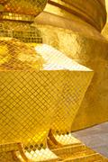 pavement gold       in    thailand incision of  temple - stock photo