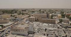 Pan shot of Nouakchott, Mauritania (4K) Stock Footage