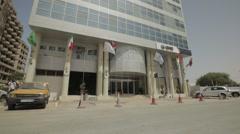 Al Khaima Hotel in Nouakchott, Mauritania Stock Footage