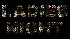 Ladies night led sign Stock Footage