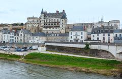 Amboise town spring view (France) - stock photo