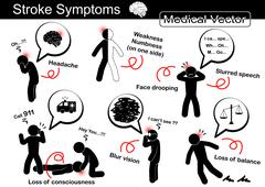 Stroke Symptoms - stock illustration