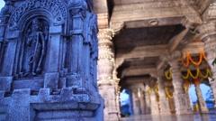 Vitala temple Hampi Karnataka India Stock Footage