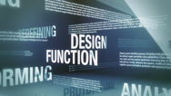 Stock Video Footage of Design Related Terms