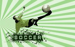 Stock Photo of Grunge Soccer Ball background