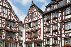 Medieval houses in Bernkastel, Germany Stock Photos