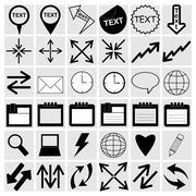 Setting icons Stock Illustration