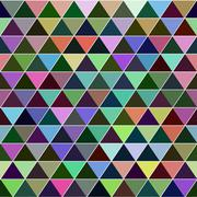 Seamless triangle pattern. Vector background. - stock illustration