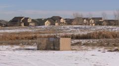 Neighborhood fracking Stock Footage
