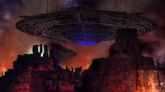 Ancient UFO War Stock Footage