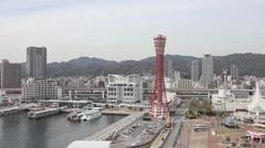 Kobe Harbor time lapse Stock Footage
