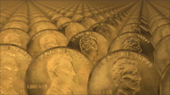 gold usa money - stock footage