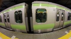 Yamanote Line fisheye Stock Footage