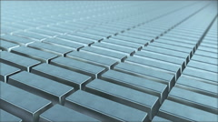 Silver ingot loop Stock Footage