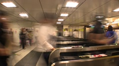 Shinjuku Station turnstile Stock Footage