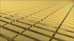 Gold ingot Stock Footage
