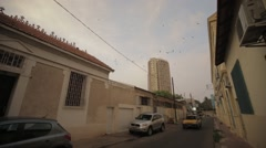 A far away view of the Central Bank of West African States in Dakar Stock Footage