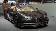 Bugatti rotates Stock Footage