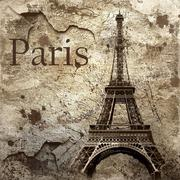 Stock Photo of Vintage view of Paris on the grunge background