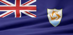 Stock Photo of Flag of Anguilla