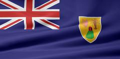 Flag of Turk and Caicos Islands - stock photo