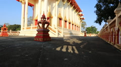 Buddhism temple with blue sky - stock footage