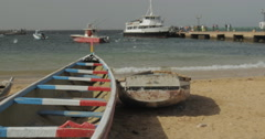 Goree Island beach, Dakar, Senegal (4K) Stock Footage