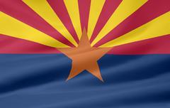 Flag of Arizona - stock illustration
