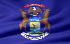 Flag of Michigan Stock Photos