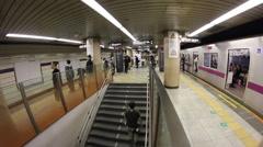 Tokyo, Shibuya subway station fast Stock Footage