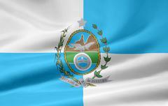 Flag of Rio de Janeiro - stock illustration