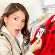 Stock Photo of Expensive shopping prices