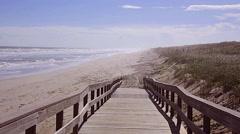 Florida CapeCanaveral SeashorePark Beach 03svv Stock Footage