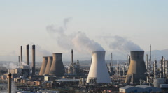 Grangemouth refinery Stock Footage