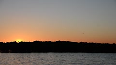 Florida NewSmyrna Beach River Sunset 05svv Stock Footage