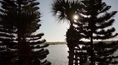 Florida NewSmyrna Beach River Sunset 01svv Stock Footage