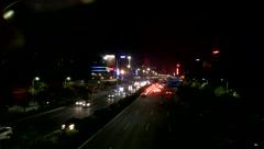 Night landscape of Shenzhen Baoan Avenue traffic Stock Footage