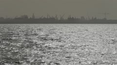 A landscape of the Port of Dakar, Senegal Stock Footage