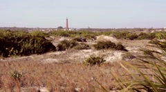 Florida NewSmyrna Beach Dunes PonteInletLighthouse 03svv Stock Footage