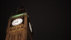 Big Ben/Elizabeth Tower London at Night | HD 10080 - stock footage