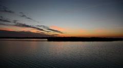 Sunset River 03svv Stock Footage