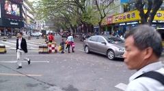 Shenzhen Baoan Xixiang Commercial Street Stock Footage
