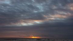 Sea SKy Sunrise Clouds 01svv Stock Footage