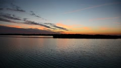 Sunset River 01svv Stock Footage