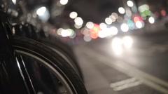 Barclays Bikes, London. Night | HD 1080 - stock footage